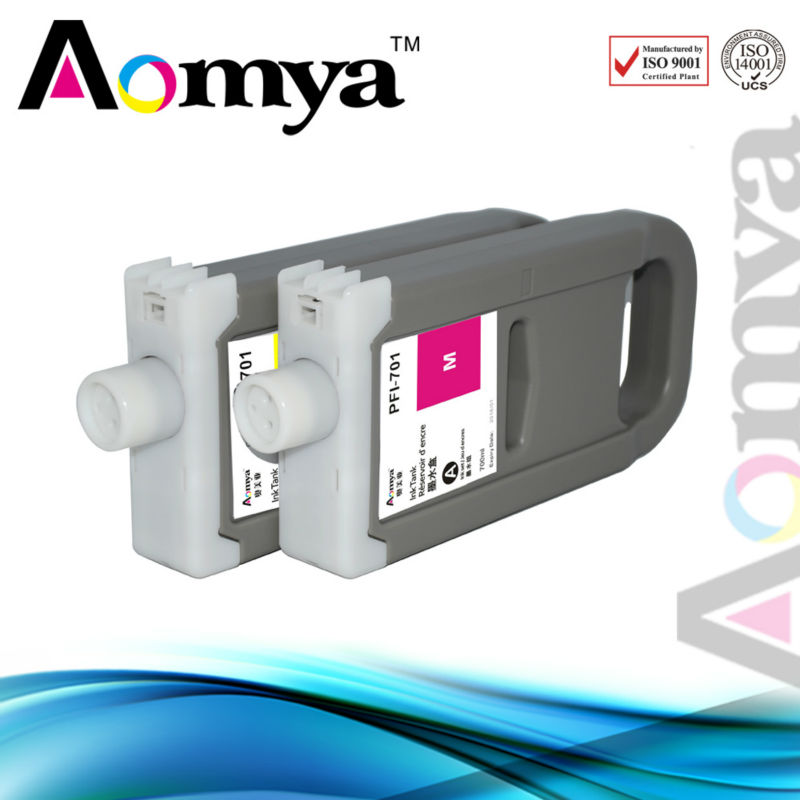 12 color PFI 701 702 Compatible Wide Format ink cartridges for Canon iPF9100 font b printer