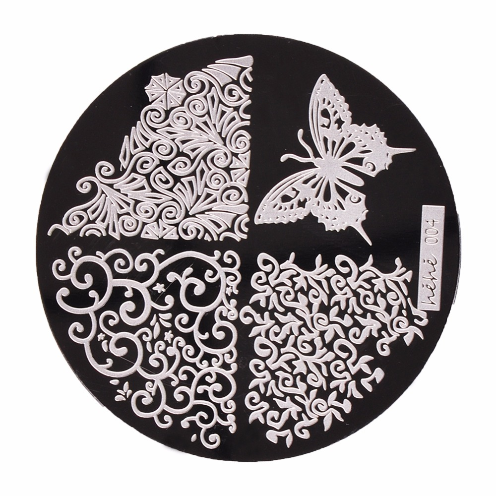 1pc 36 Designs Available Biutee Stamping Plate Lace Starfish & Shell Negative Space Leaves Flowers Animals Nail Template(China (Mainland))