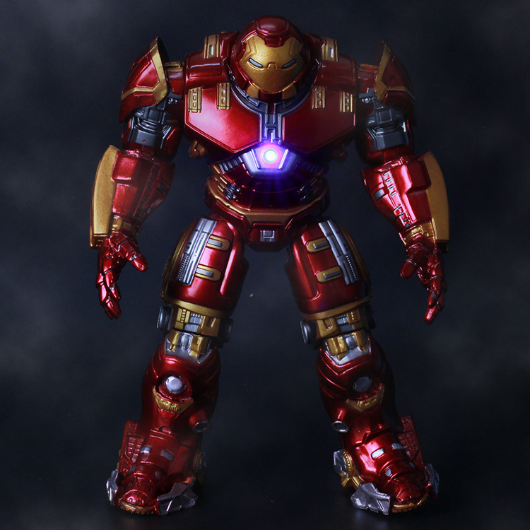 Gold-plated Avengers 2  Iron Man Hulkbuster Armor Joints Movable 18CM Mark With LED Light PVC Action Figure Collection Model Toy<br><br>Aliexpress