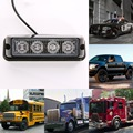High Power 4LEDS Car Grille Flashing Light Led Strobe Warning Hazard Emergency Warning Flash Light for