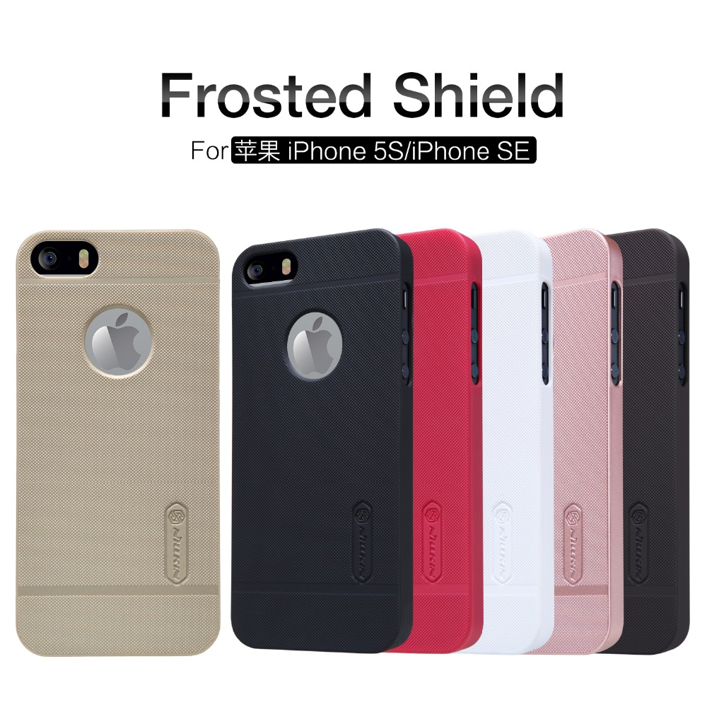 NILLKIN Super Frosted Shield case for iPhone 5S/iPhone SE/iPhone 5SE/iPhone 5/iPhone 7c (4.0inch) with screen protector+Package(China (Mainland))