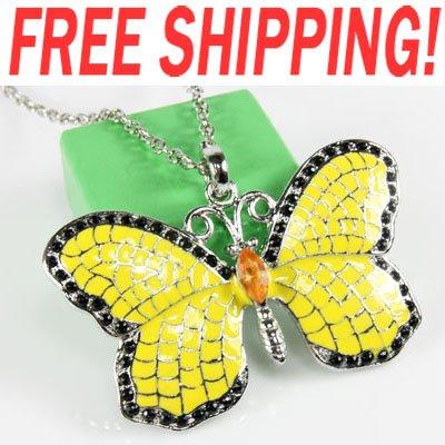 Beautiful enamel butterfly Necklace fashion hip hop discount jewelry wholesale luxury luxurious nke-f49<br><br>Aliexpress