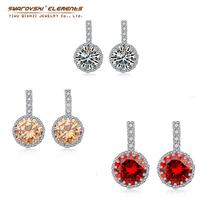 2015 New Fashion Jewelry Hot Selling Earrings 2015 AAA Zircon Stud Earrings For Women Crystals from swarovski Elements Classic