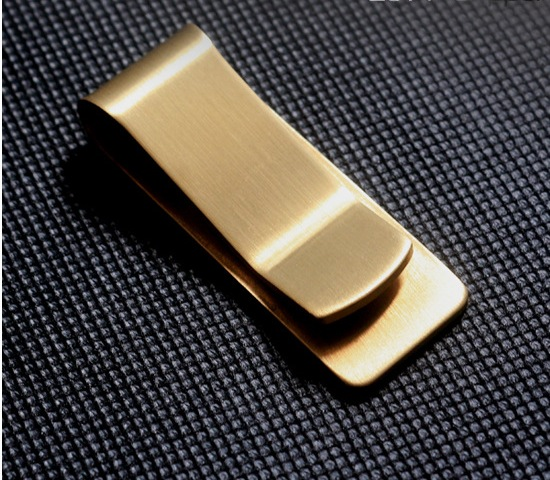 Brand New Supreme Brass wallet metal money clip paper clip change paper clip Pure copper thick restoring ancient ways(00189)(China (Mainland))