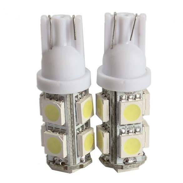 High Quality 2PCS 194 168 W5W T10 9SMD-5050 LED White Light Car Tail Lamp Bulb Bright H1E1(China (Mainland))