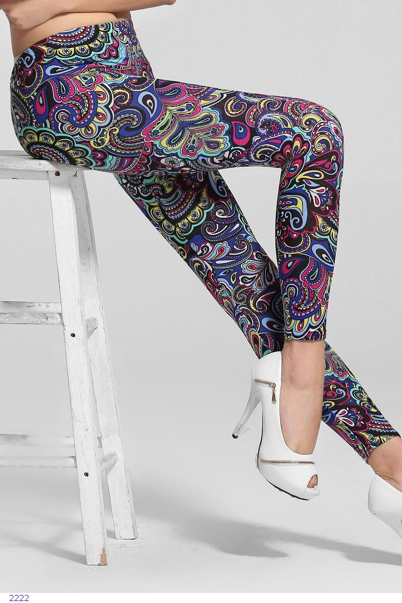 Spring 2014 New Items Women Pants Fitness, Colorful Floral Print Stretch Fashion Leggings LC79356 - OY fashion Co., Ltd store