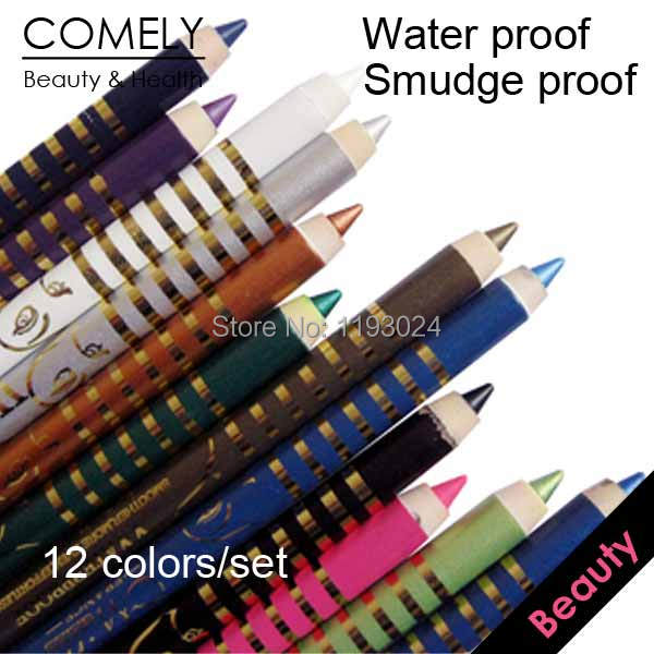 12 Colors Waterproof Eyeliner Balm Pencil make eye liner cosmetics makeup delineador caneta maquiagem maquillaje - COMELY Online Shopping CO., LTD. store