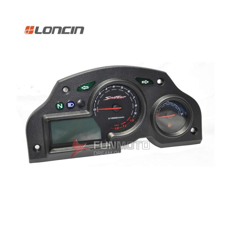 SPEEDOMETER OR INSTRUMENT FOR LONCIN MOTORCYCLE MODEL NAME IS GP LX150-56-MF PARTS NO. IS 281370821-0001