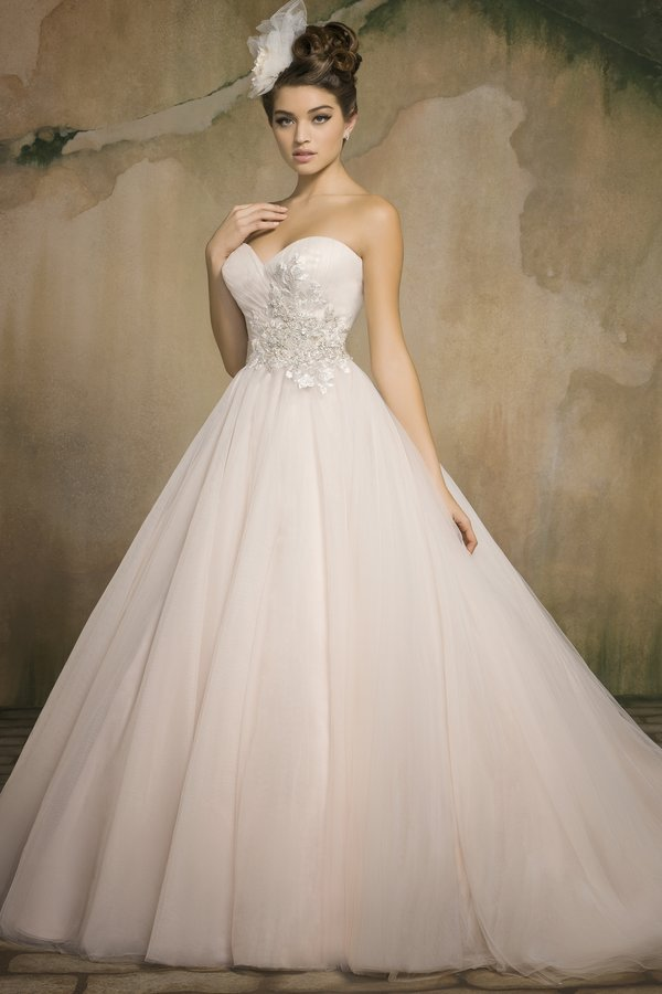 Vestido de noiva new 2015 sexy sweetheart tulle a line for Tulle a line wedding dress