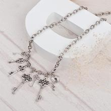 """Buy 8SEASONS Fashion Jewelry Necklace Silver Tone Color Key Pendant 50cm (19 5/8"""") long,1 Piece for $1.04 in AliExpress store"""