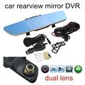 new arrival Video mirror DVR Full HD Original Rearview mirror camera 5 Inch Screen dashcam Black