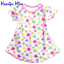 Super deal summer cotton baby dress princess dress envelope collar puff sleeve cute fashionable baby infant dress 0-18m ZL051107(China (Mainland))