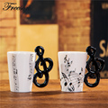 Funny Music Note Bone China Mug 240ml Ceramic Coffee Tea Mug Porcelain Zakka Novelty for Gift