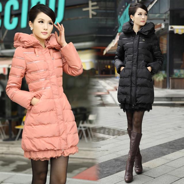Free shipping 2013 winter new fashion thickening medium-long outerwear women's down coats  0221071301