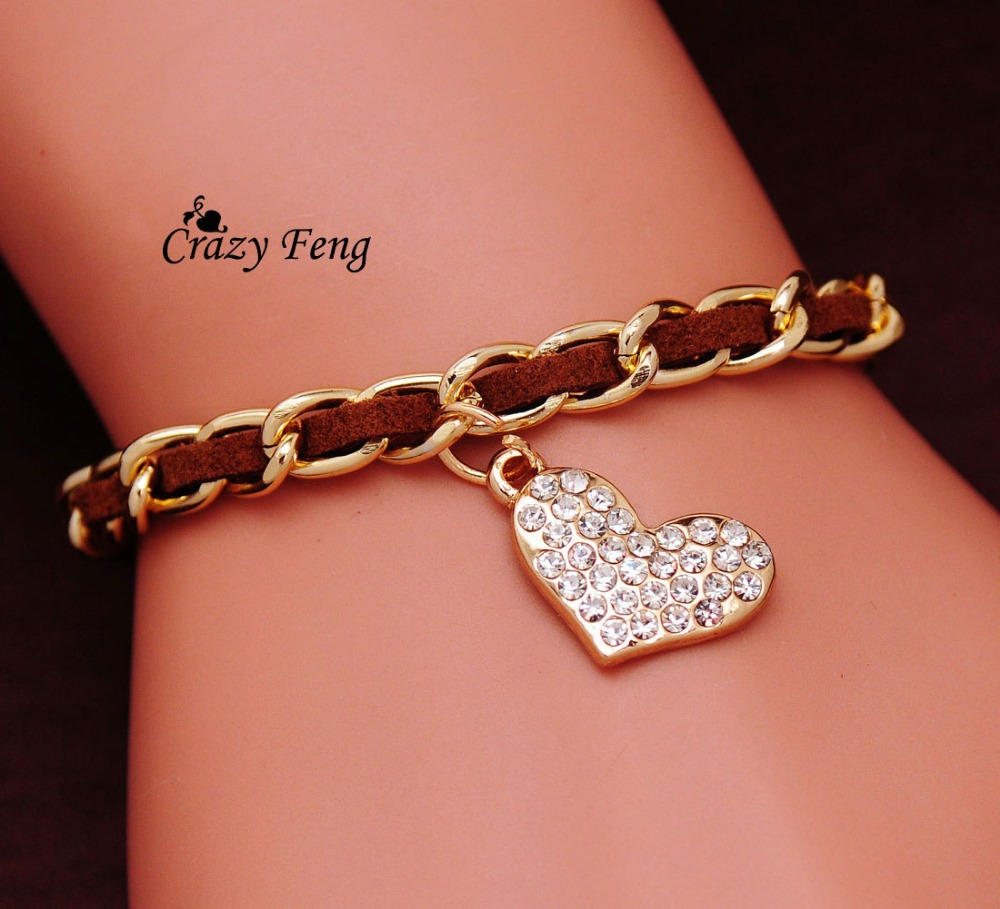 Crazy Feng Jewelry Cute Romantic Heart Bracelet Jewelry
