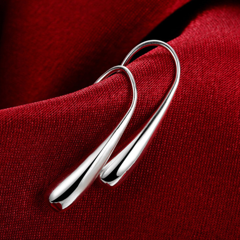 Simple Design Silver Plated Earring Hook Modern Design Earring Hoop for Men and Women(China (Mainland))