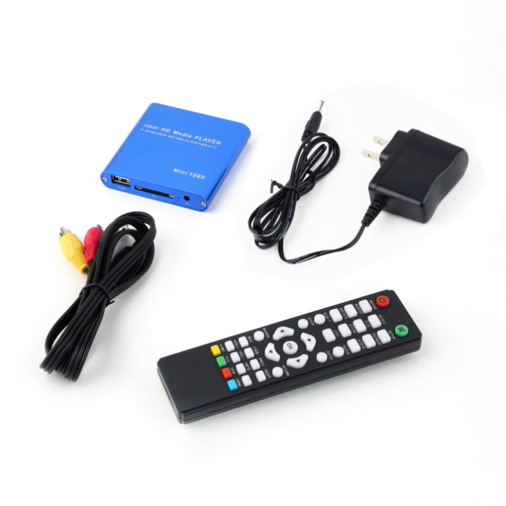 High Quality One 1080P HDD Muti-function Media RMV MP4 AVI FLV Player MKV/H.264/RMVB Full HD With HOST USB Card Reader(China (Mainland))