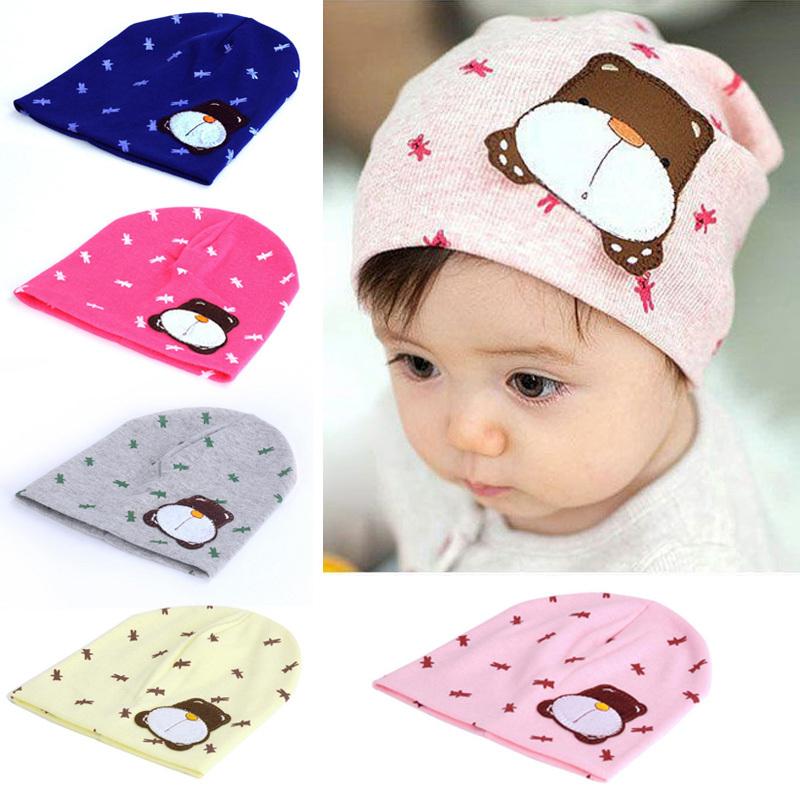 Animal Winter Baby Hat Newborn Infant Toddler Girl Boy Cotton Cap Printed Beanie Hat Cap Children Knitted  W1
