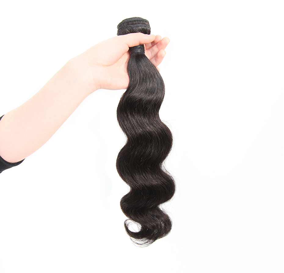 Alimice Hair Brazilian Body Wave 1 Piece 100% Human Hair Bundles Natural Color 8-30inch Non Remy Hair Weave Free Shipping