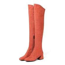 MORAZORA Größe 34-43 HEIßER 2020 Heißer verkauf frauen stiefel herbst winter über die knie stiefel runde kappe herde leder oberschenkel hohe stiefel(China)