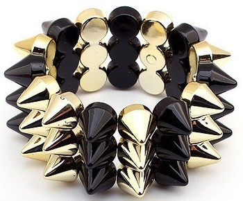 Min. order is $10 fashion pyramid rivet spike stretch new  wholesale jewelry punk perfume accessories european bracelet 2013