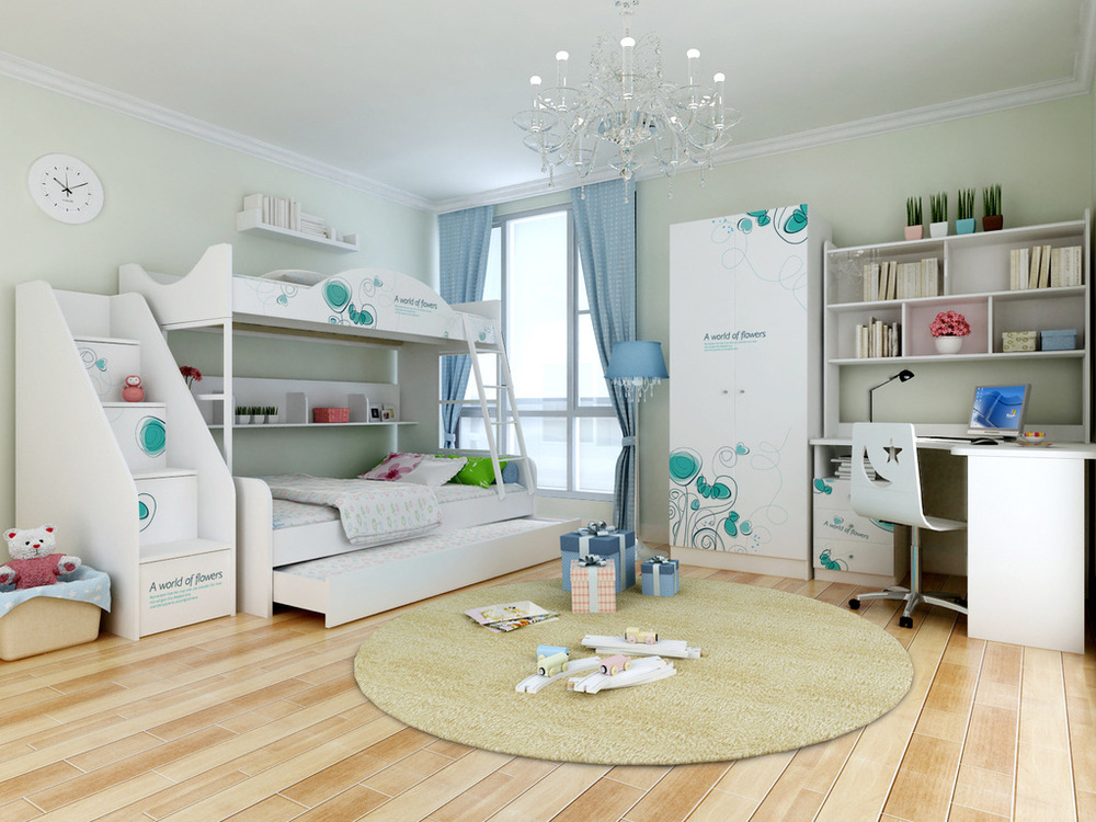 Ikazz bunk beds 1 2 m 1 5 m children s bunk beds under the for 5 in 1 bed