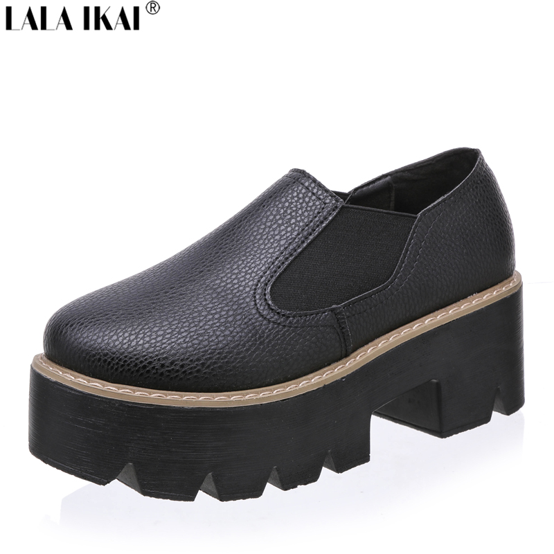 leather creepers slip on platform shoes toe