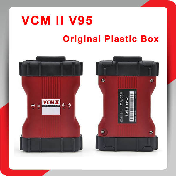 2015 Newest Version V95 VCM II VCM 2 in 1 Multi-language VCM2 IDS Diagnostic Tool With Plastic Box DHL Post Free Shipping(China (Mainland))