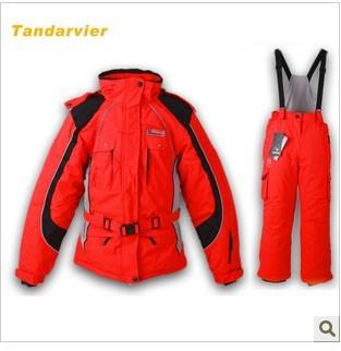 Wholesale Double parent-child child ski suit set girl skiing clothing outdoor jacket female<br>