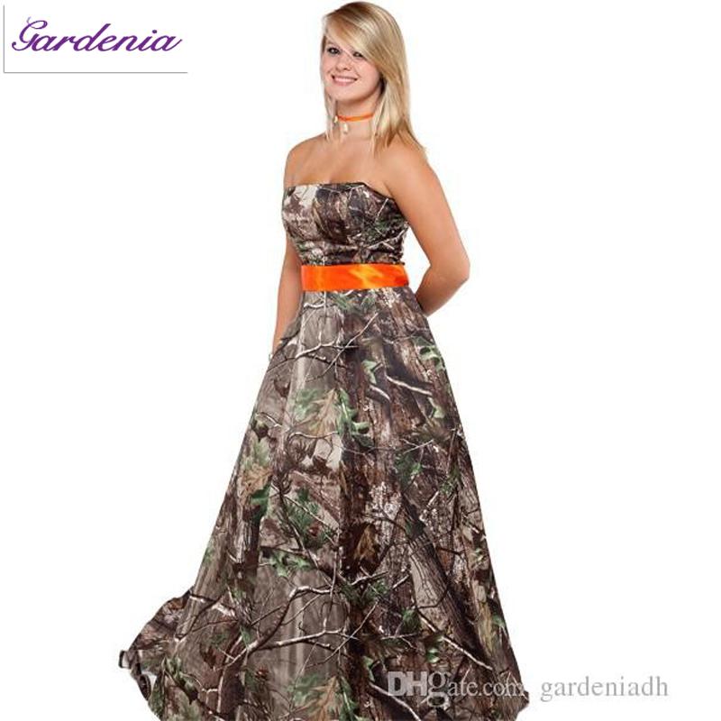 camo wedding dresses with orange photo17