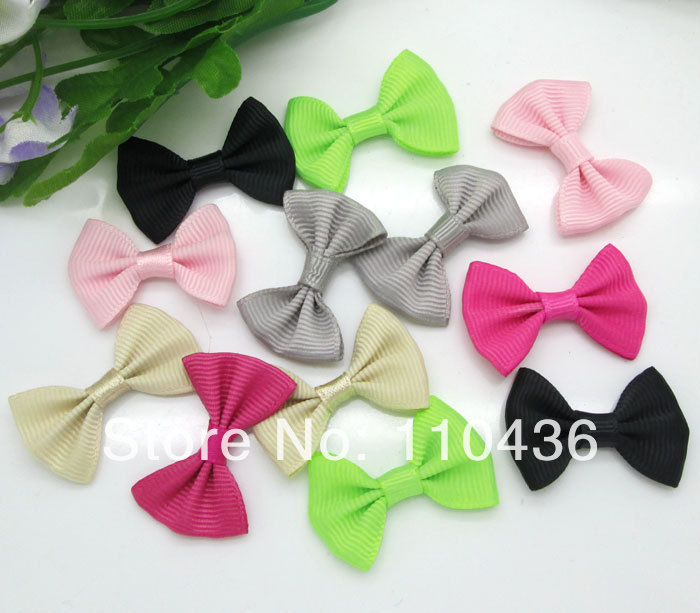5Mixed Baby Satin Ribbon Bowknot Hair Clips Applique DIY Craft Wedding Bow Tie Decoration 3.5x2.2cm - Panbeads-supplies Jewelry Co., Ltd. store