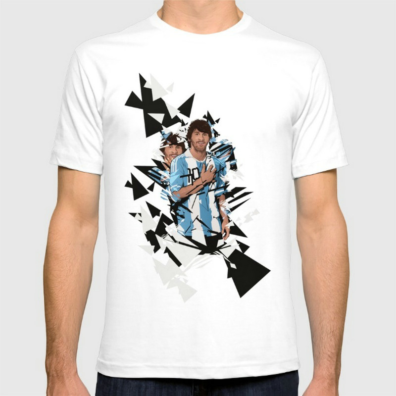 Lionel Messi Argentina New Fashion Men's T-shirts Short Sleeve Tshirt Cotton Wholesale(China (Mainland))