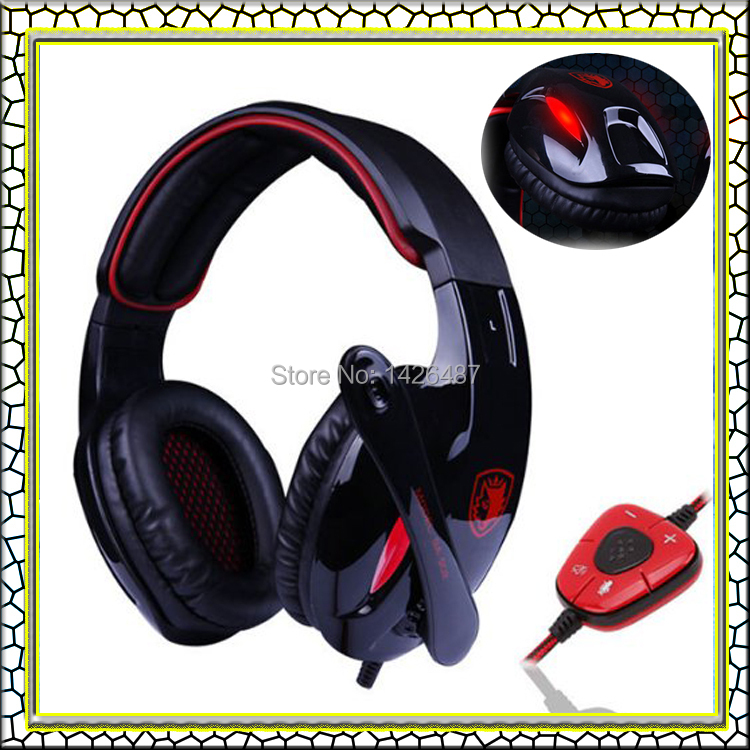 Brand Sades SA-902 Gaming headset headphone 7.1 Surround Sound Headphones Studio with Mic USB Stereo Bass earphone for PC gamer(China (Mainland))