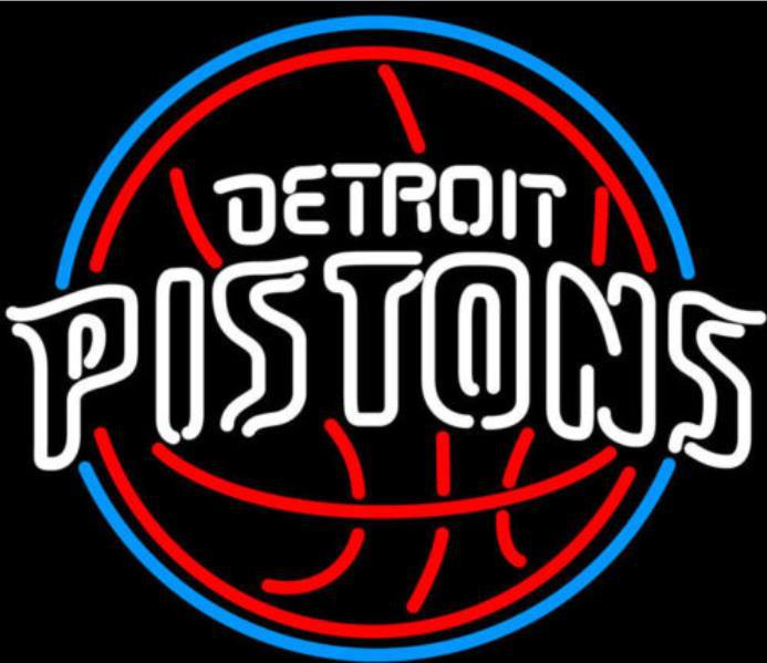 "Business Custom NEON SIGN board For Basketball NBA Detroit Pistons REAL GLASS Tube BEER BAR PUB Club Shop Light Signs 15*15""(China (Mainland))"