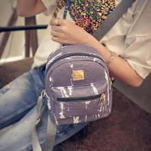 Buy Women's Mini Backpack Women Crocodile PU Leather Backpack School Back Pack Small Backpacks Teenage Girls 48ZS for $12.61 in AliExpress store