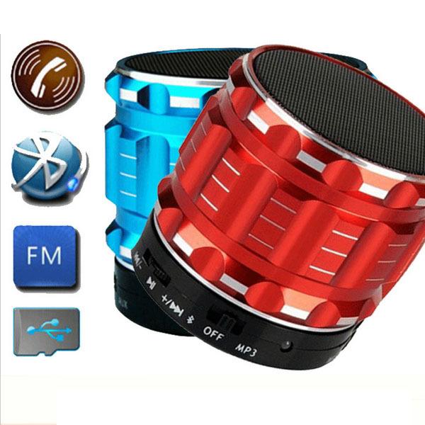 2015 Portable Mini Bluetooth Speakers Metal Steel Wireless Smart Hands Free Speaker FM Radio Support SD Card Phone - HMTTOOL store
