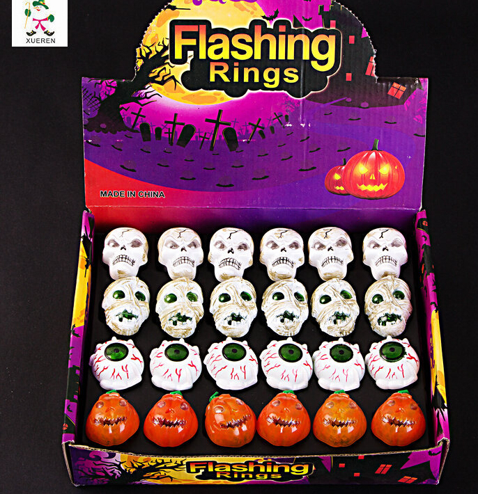 960PCS Halloween Party LED Glowing Decorative Finger Rings Light Flashing Birthday Kids Children Light-up Toys With Retail Box(China (Mainland))