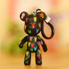 Freeshipping High Quality PVC Kawaii Fashion Keychain Popobe Violence Bear Toy Ornaments Doll Set Key Holder/Bag Chain(China (Mainland))