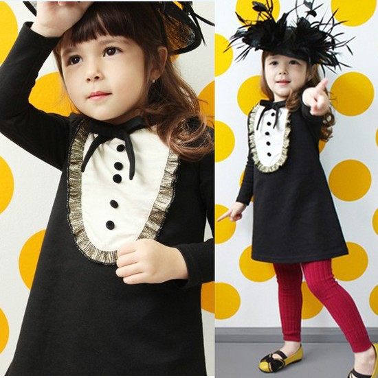 New Arrival western style girl long-sleeved fashion princess dress for winter autumn kids outerwear children clothing 6040(China (Mainland))