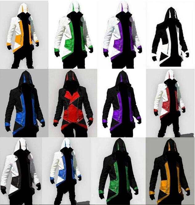Assassins Creed 3 III Conner Kenway Hoodie Coat Jacket Anime Cosplay Assassin's Costume Overcoat - bing xiao's store