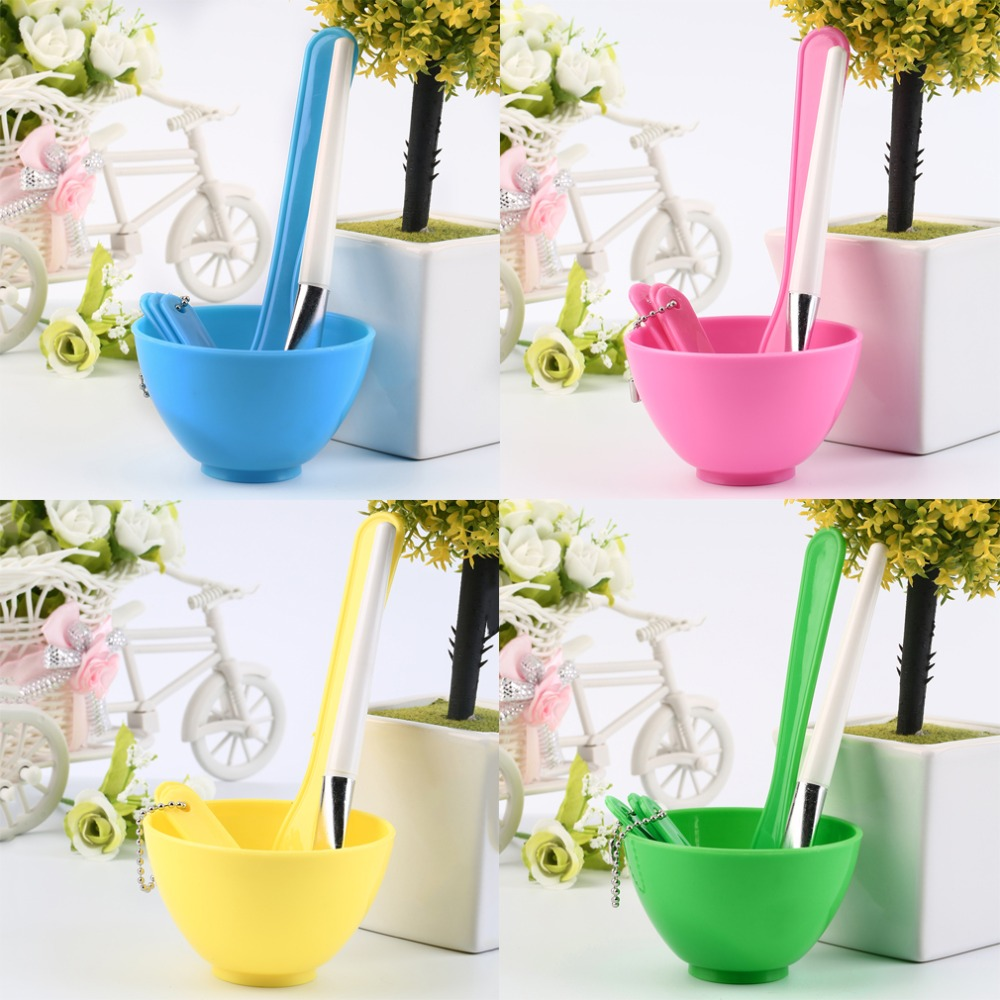4 in 1 Beauty Makeup Face Facial Mask Mixing Bowl Brush Spoon Stick Set Tool Quality(China (Mainland))