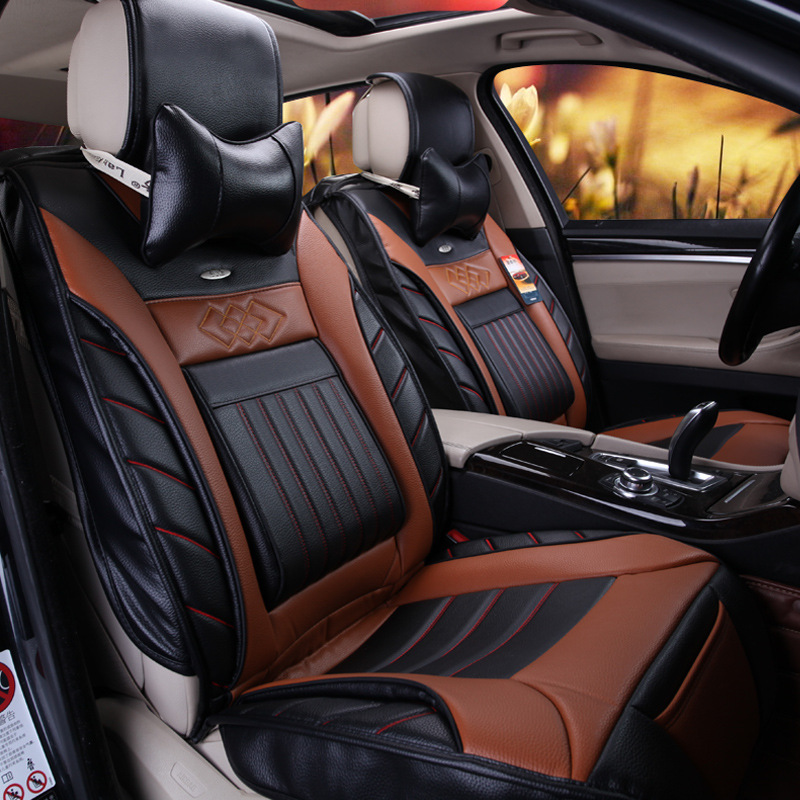 freeshipping 2016 hot sale new kia ceed car seat all inclusive luxury upholstery leather covers. Black Bedroom Furniture Sets. Home Design Ideas
