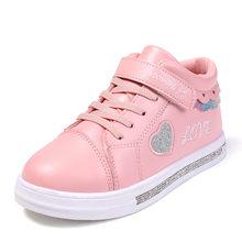KRIATIV 2019 סתיו חדש ילדי נעלי ילדה פעוט נעלי Tenis תינוקות ילדי סניקרס לבן לב צורת אהבת תינוק נעל(China)