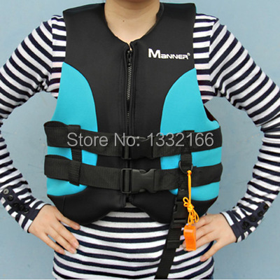 Free shipping Fishing special immersion suits, swimming life jackets Blue multi-function life jacket swimwear for girls(China (Mainland))