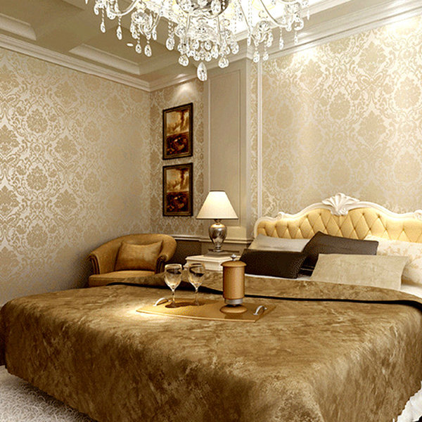 Modern gold glitter wallpaper roll bedroom 3d papel de parede floral wall paper for walls modern Modern wallpaper for bedroom