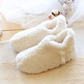 Female Woman Super Soft Coral Velvet Shoes Lovely Ladies Home Floor Indoor Fashion Winter Warm Slippers