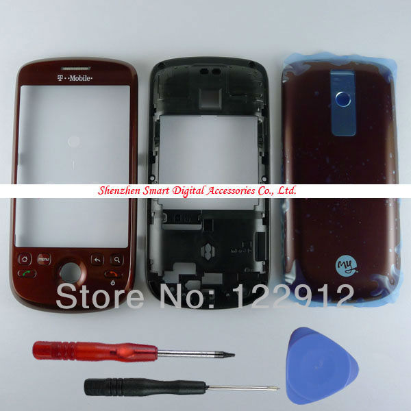 Red Housing Front Frame Middle Panel Plate Battery Back Cover Case For HTC Magic G2 T-Mobile MyTouch 3G(China (Mainland))