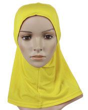 Мусульманский хиджаб исламский женские короткие хиджаб оптовая продажа мусульманин Внутренняя крышка Мах lslamic кафтан-абая хиджаб 3909(China)