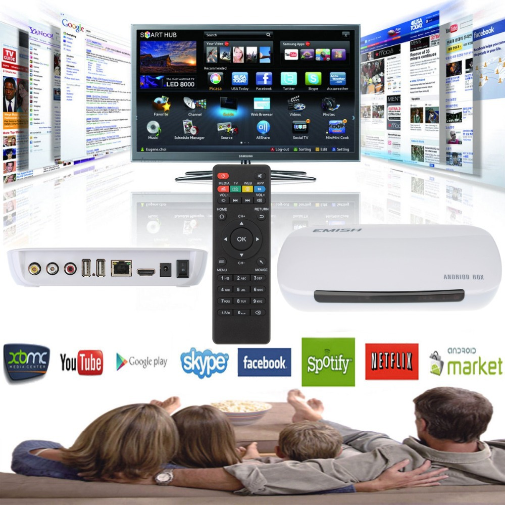 New Quad core Android 4.2.2 Smart TV Box Pro Media Player 1080P WIFI HDMI XBMC YOUTUB(China (Mainland))