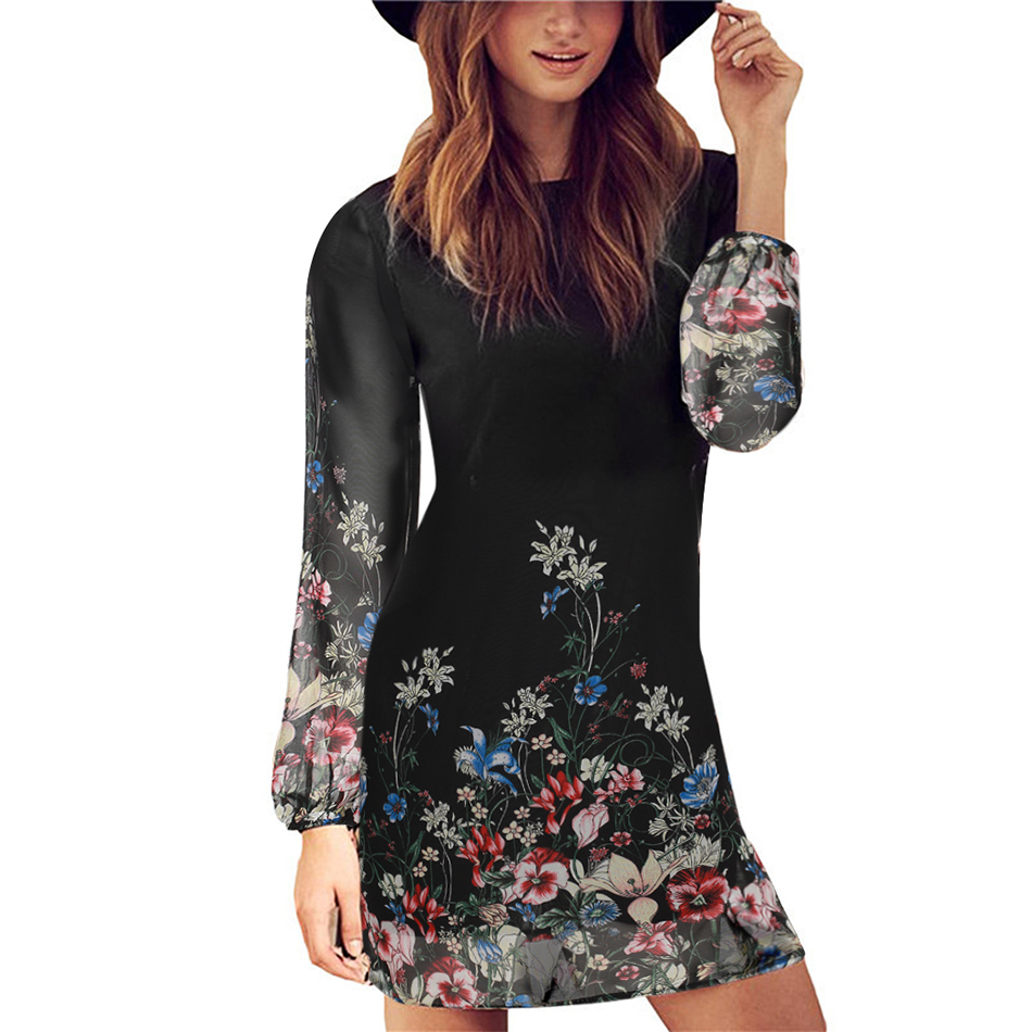 Women summer style 2016 newest shift dresses beautiful black long